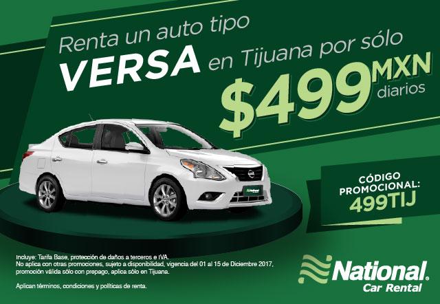 A Un Auto Tipo Versa En Tijuana