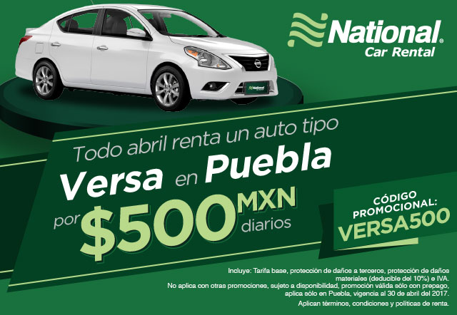 En Puebla A Un Auto Tipo Versa Con Protección Básica Por 500mxn Diarios