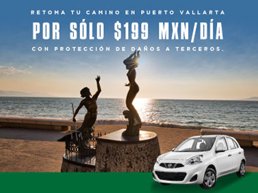Retoma tu camino en Puerto Vallarta rentando un auto por 199 diarios