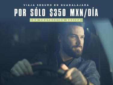Viaja seguro y con total confianza en Guadalajara por 350 MXN diarios